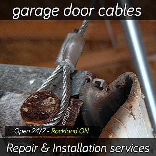 Garage Door Cable Reapir Rockland Ontario Broken Cable Replacement